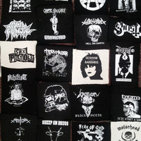 Punk metal crust doom black death grind grindcore heavy gore horror cult cartoon novelty patches sew-on DIY PS05