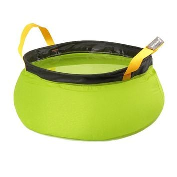 Ultralight Folding Basin Bucket Outdoor Collapsible Water Washbasin Portable Wash Bag