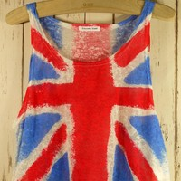 Retro Great Britain Flag Dyed Top - LoLoBu