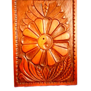 Handmade Carved Wood Wall Hanging Art Decor Gift Idea Wooden Panel Wooden Picture ReAdy To Ship