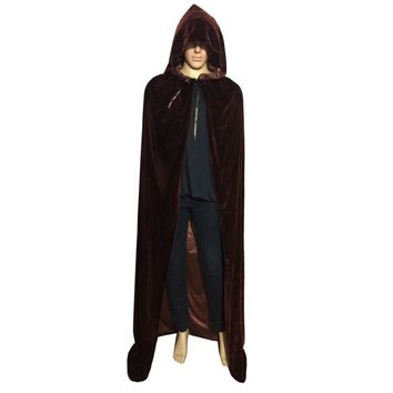 Festival Hooded Cloak Cosplay Velvets Gothic Wicca Vampire Costume Colours