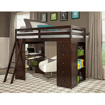 Walmart: Canwood Skyway Twin Loft Bed with Desk & Storage Tower, Espresso