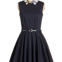 Closet Mid-length Sleeveless Fit & Flare Complete Sophistication Dress
