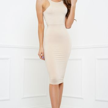 Heart Desires Dress - Nude