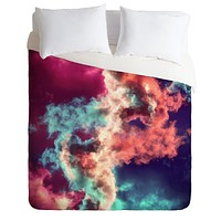 Caleb Troy Yin Yang Painted Clouds Duvet Cover