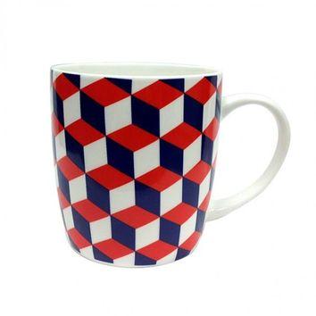 Grafika Mug: Red & Blue - For Home & Office