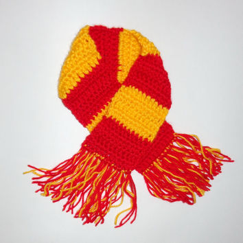 Harry Potter Scarf Gryffindor,  Beanie Newborn Child Teen  Adult - Halloween / Cosplay / Baby Shower Gift