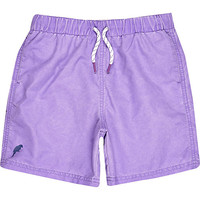 River Island Boys purple swim trunks