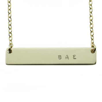 The Name Plate Necklace Bae