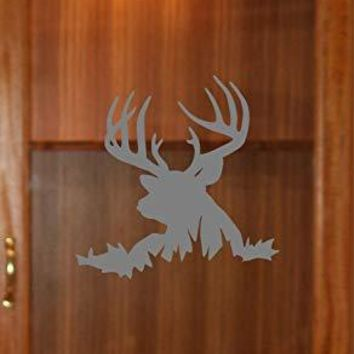 Buck Deer Hunting Etched Glass Vinyl Gun Cabinet Sliding Front Shower Office Window Door Decal Stickers Sticker