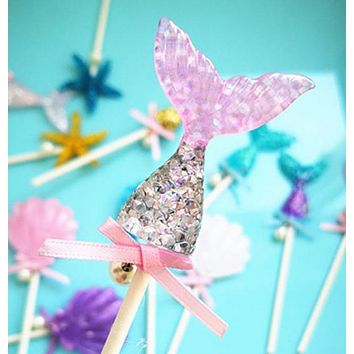 Mermaid Theme Cupcake Topper - 60 Units