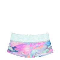 Tropical Lace Trim Boyshort Panty - PINK - Victoria's Secret