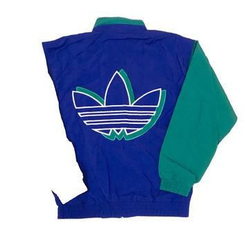 Vintage 90s Adidas Huge Logo Windbreaker