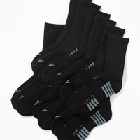 Go-Dry Crew Socks 6-Pack for Boys | Old Navy