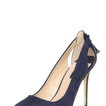 Navy 'Eloise' Tassle Back Court Shoes - View All New In - New In
