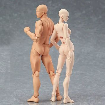13cm Action Figure Toys Artist Movable Male Female Joint figure body Model Mannequin bjd Art Sketch Draw figures kawaii figurine