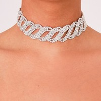 Kisama Diamante Chain Detailed Choker