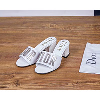 DIOR 2018 new fashion cool cool open toe sandals slippers F-OMDP-GD White