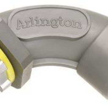 Arlington Screw-on 90 Degree Non-metallic Connector, Liquid-tight, 1-2 In.