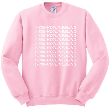 1-800-HOTLINEBLING Sweatshirt OVO Drake Sweatshirt Light Pink Hotline Bling Shirt Unisex Size