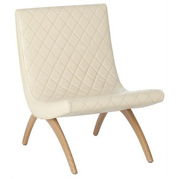 Arteriors Home Danforth Ivory Quilted Top Grain Leather Chair - Arteriors Home 2667