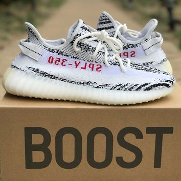 Adidas Yeezy Boost 350 V2 Zebra White Black Red 8-13 CP9654 SPLY 100% Authentic!
