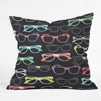 Mary Beth Freet Glasses Throw Pillow
