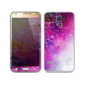 The Abstract Neon Paint Explosion Skin For the Samsung Galaxy S5