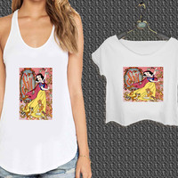 Disney Snow White For Woman Tank Top , Man Tank Top / Crop Shirt, Sexy Shirt,Cropped Shirt,Crop Tshirt Women,Crop Shirt Women S, M, L, XL, 2XL*NP*
