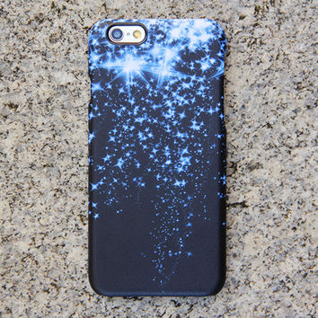 Blue Glitter Style iPhone 6 Case Dancing Stars Galaxy S6 edge S6 S5 S4 Note 3 Case Sparkly iPhone 5S 5 iPhone 5C iPhone 4S/4 Case 021