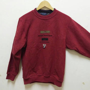 Hush Puppies sweatshirt we invented casual Street wear Embroidery vintage