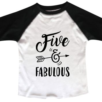 Five And Fabulous BOYS OR GIRLS BASEBALL 3/4 SLEEVE RAGLAN - VERY SOFT TRENDY SHIRT B979