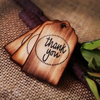 Personalized Wooden Wishing Tree Tags \'Thank You\' with Rustic Tw... | roxyheartvintage - Wedding on ArtFire