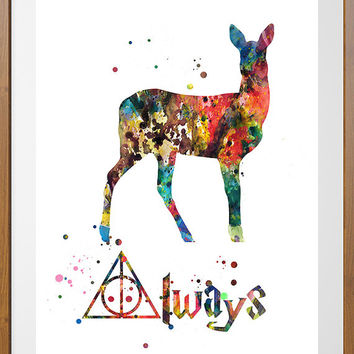 8b71135e9 Severus Snape Quote Always watercolor from MimiPrints by