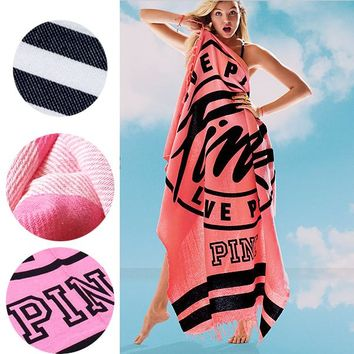 Pink Beach Towel Fashion High Quality Bath Towels 100% Cotton Swimming Towel [2974244221]