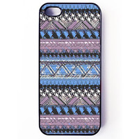 Iphone 5 Case - Aztec Pattern iPhone cover - plastic or rubber - pastel, spring