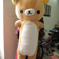90CM RILAKKUMA San-x olong Bear plush cushion pillow new