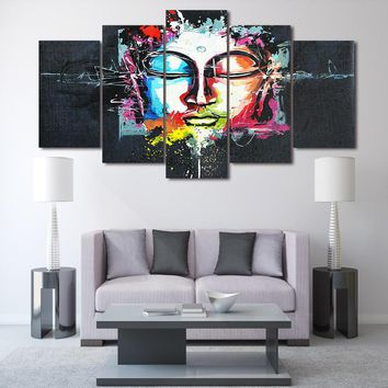 Abstract Buddha Print on canvas room deco print poster picture canvas