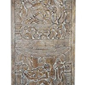 Antique Khajuraho Inspired Vintage Kamasutra Hand Carved Wall Panel, Barn door , Bedroom Decor, Wall Hanging