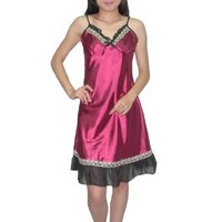 Silk Couture Womens Sexy Gorgeous Sleepwear Dress