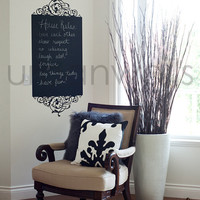 Chalk Wall Decal, Frame, House Rules