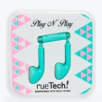 Plug 'N Play Earbuds in Mint