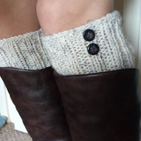 SALE, Leg warmers, Knit Boot Cuff, Oatmeal color, wellies boot cuff,  knit leg warmers,available in other colors, Christmas gift