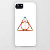 Tribal Harry Potter Deathly Hallows iPhone & iPod Case by Kendall Lynnette