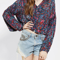 Ecote Full-Sleeve Cropped Blouse