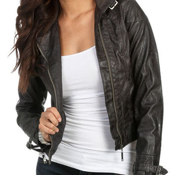 Faux Leather Moto | Shop Jackets at Wet Seal