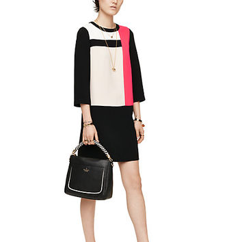 Kate Spade Colorblock Shift Dress Black Multi