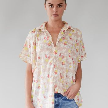 ACACIA Swimwear 2019 Mombasa Cotton Silk Shirt in Cherry Blossom