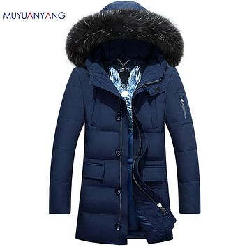 Winter Coat With Fur Collar Men Down Jackets Casual Down Jackets For Male Clothing