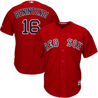 Andrew Benintendi Boston Red Sox Majestic Alternate Official Cool Base Replica Player Jersey - Scarlet